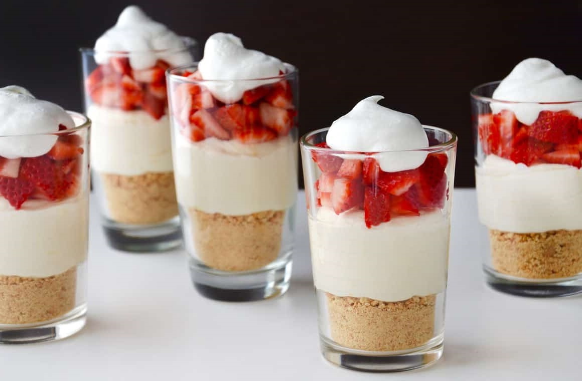 Cheesecake Parfaits (No Bake, Simple and You can modify the intensity)
