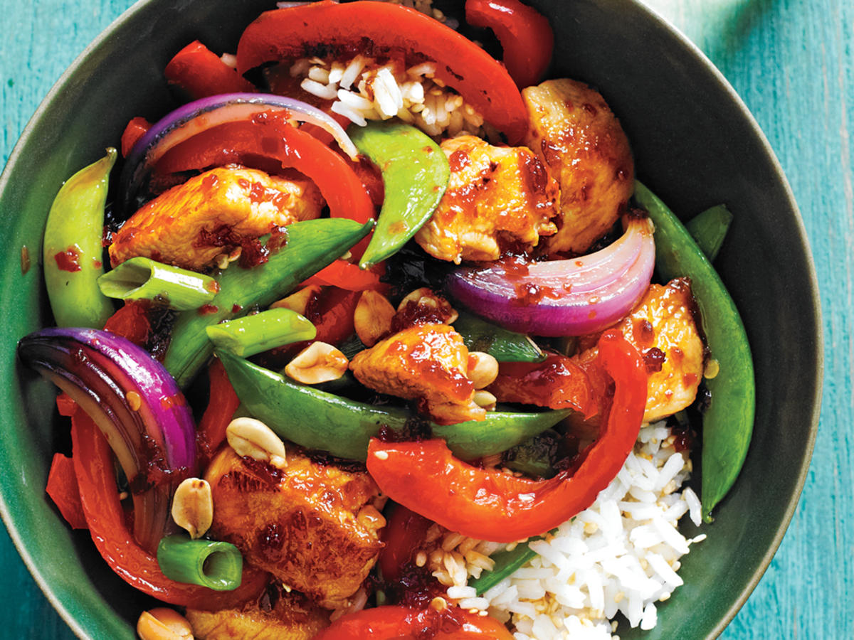 Sweet Spicy Chicken and Vegetable Stir-Fry