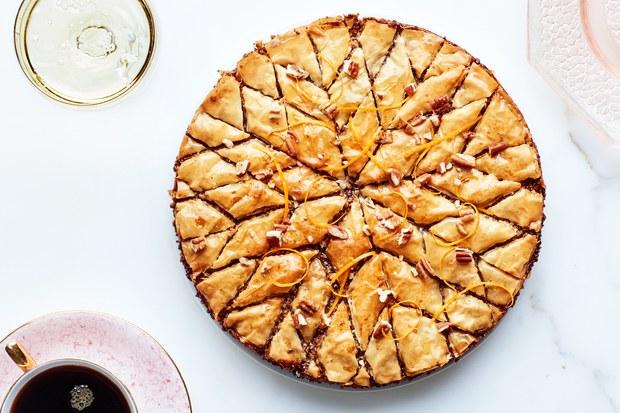 Pecan-Orange Baklava Pie